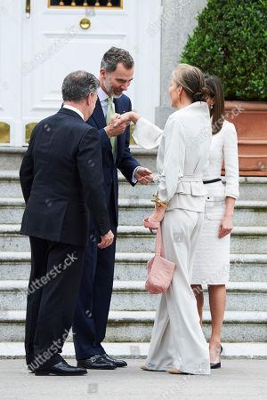 Stock Photo of King Felipe VI of Spain, Queen Letizia, Juan Manuel Santos Calderon, President of Colombia, Maria Clemencia Rodriguez Munera