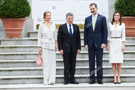 Editorial picture of Colombian President Juan Manuel Santos visit to Spain - 14 May 2018