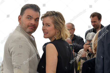 Actress Karin Viard and actor Clovis Cornillac
