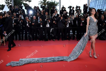 Sonia Ben Ammar arrives for the screening of 'BlacKkKlansman' during the 71st annual Cannes Film Festival, in Cannes, France, 14 May 2018. The movie is presented in the Official Competition of the festival which runs from 08 to 19 May.