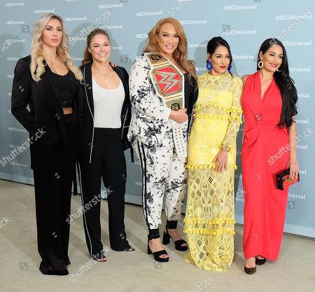 Charlotte Flair, Ronda Rousey, Nia Jax, Brie Bella and Nikki Bella