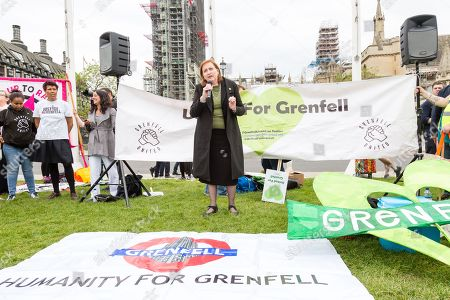 Editorial picture of Grenfell Tower fire protest, London, UK - 14 May 2018