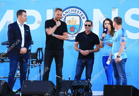 Former Manchester City players Shay Given, Nicky Weaver and Paul Dickov are interviewed on stage