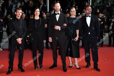 Stock Picture of The 57th Critic's Week jury member Chloe Sevigny, Nahuel Perez Biscayart, jury head Joachim Trier, Eva Sangio and Augustin Trapenard arrive for the screening of 'The House that Jack Built' during the 71st annual Cannes Film Festival, in Cannes, France, 14 May 2018. The movie is presented out of competition at the festival which runs from 08 to 19 May.