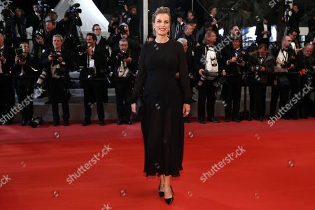 Andrea Bescond arrives for the screening of 'The House that Jack Built' during the 71st annual Cannes Film Festival, in Cannes, France, 14 May 2018. The movie is presented out of competition at the festival which runs from 08 to 19 May.