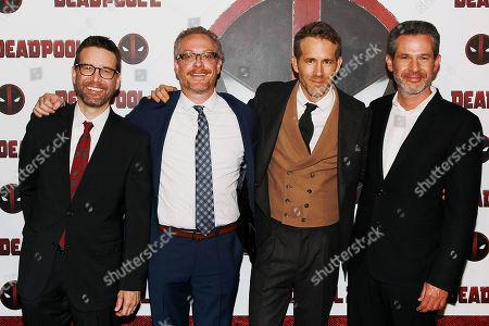 Rhett Reese, Paul Wernick, Ryan Reynolds and Simon Kinberg