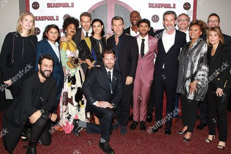 Stacey Snider and Emma Watts with Cast of DeadPool