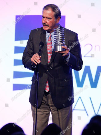 Vicente Fox attends the 22nd Annual Webby Awards at Cipriani Wall Street, in New York