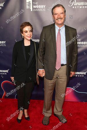 Marta Sahagun de Fox, Vicente Fox. Marta Sahagun de Fox, left, and Vicente Fox, right, attend the 22nd Annual Webby Awards at Cipriani Wall Street, in New York