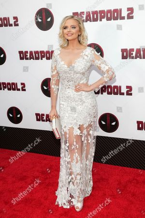 "Actress Veronika Dash attends a special screening of ""Deadpool 2"" at AMC Loews Lincoln Square, in New York"