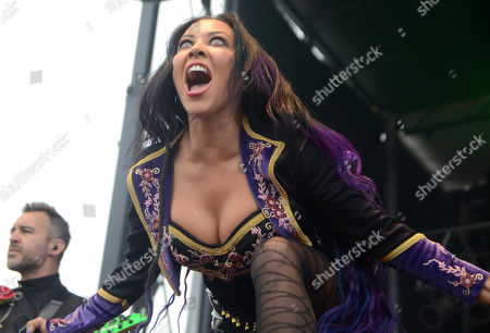 Vocalist Carla Harvey of the band Butcher Babies performs during the Northern Invasion Music Festival in Somerset, Wisconsin