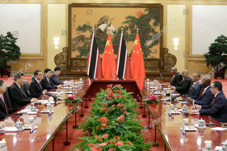 Xi Jinping and Keith Rowley