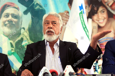 Former president and leader of the the National Congress for Timorese Reconstruction (CNRT), Xanana Gusmao speaks to journalists during a press conference in Dili, East Timor, also known as Timor Leste, 15 May 2018. According to media reports, The Parliamentary Majority Alliance (AMP) with three political parties led by the CNRT secured a majority on the parliamentary election.