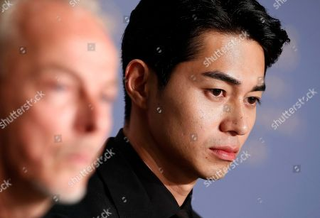 Japanese actor Masahiro Higashide attends the press conference for 'Asako I & II (Netemo Sametemo)' during the 71st annual Cannes Film Festival, in Cannes, France, 15 May 2018. The movie is presented in the Official Competition of the festival which runs from 08 to 19 May.