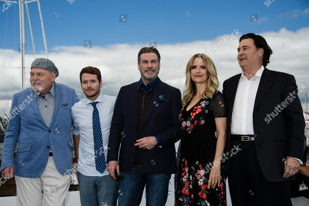 (L-R) Stacy Keach, director Kevin Connolly, John Travolta, Kelly Preston and Leo Rossi  pose during a photocall for at the 71st annual Cannes Film Festival, in Cannes, France, 15 May 2018.
