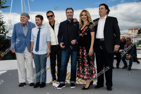Stock Picture of (L-R) Stacy Keach, director Kevin Connolly, Edward Walson, John Travolta, Kelly Preston and Leo Rossi  pose during a photocall for at the 71st annual Cannes Film Festival, in Cannes, France, 15 May 2018.