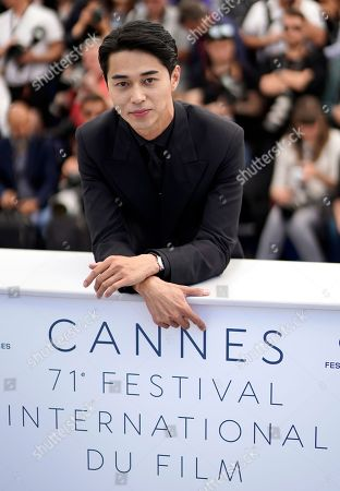 Masahiro Higashide poses during the photocall for 'Asako I & II (Netemo Sametemo)' at the 71st annual Cannes Film Festival, in Cannes, France, 15 May 2018. The movie is presented in the Official Competition of the festival which runs from 08 to 19 May.