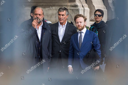Former French Budget Minister Jerome Cahuzac (C) and his lawyer Eric Dupond-Moretti (L) nd associate lawyer Antoine Vey 'R) arrive at the Appeal Court in Paris, France, 15 May 2018. Cahuzac was sentenced to a four year suspended prison sentence for tax fraud in 2016.