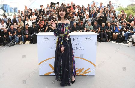 Actress Erika Karata poses for photographers during a photo call for the film 'Asako I & II' at the 71st international film festival, Cannes, southern France