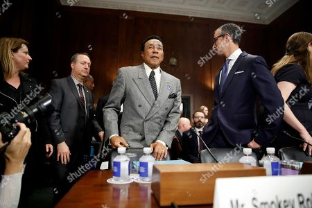 Smokey Robinson, David Israelite. Singer Smokey Robinson, center, arrives to testify during a Senate Judiciary Committee hearing on music protections, on Capitol Hill in Washington. At right is National Music Publishers Association President and CEO David Israelite