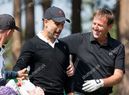 Pep Guardiola has fun with Matt Le Tissier