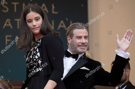 John Travolta and Ella Bleu Travolta arrive for the screening of 'Solo: A Star Wars Story' during the 71st annual Cannes Film Festival, in Cannes, France, 15 May 2018. The movie is presented out of competition at the festival which runs from 08 to 19 May.