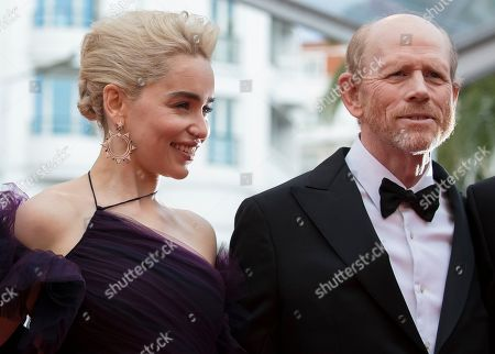 Emilia Clark and Ron Howard arrive for the screening of 'Solo: A Star Wars Story' during the 71st annual Cannes Film Festival, in Cannes, France, 15 May 2018. The movie is presented in the Official Competition of the festival which runs from 08 to 19 May.