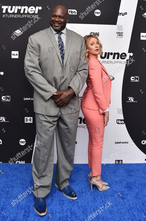 Stock Image of Shaquille O'Neal and Kristen Ledlow