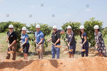 Kalahari Resorts and Conventions officially broke ground on the company's fourth property in Round Rock, Texas on . Scheduled to open in 2020, the Round Rock property will mark the Kalahari's first expansion into the Southwest. The location will include nearly 1,000 guest rooms, America's Largest Indoor Waterpark, outdoor waterpark experiences, an expansive convention center, Tom Foolery's Adventure Park, world-class dining, a full-service spa and diverse shopping options. For more information on Kalahari Resorts and Conventions, visit www.KalahariResorts.com. From left: Todd Nelson, Jr., Natasha Lucke, Travis Nelson, Todd Nelson, Shari Nelson, Alissa Gander and Ashley Nelson