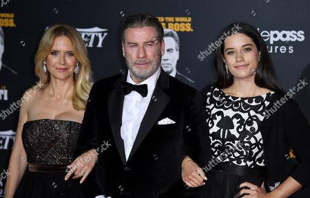 Stock Image of Kelly Preston, John Travolta and Ella Bleu Travolta