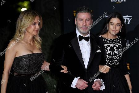 Stock Picture of Kelly Preston, John Travolta and Ella Bleu Travolta