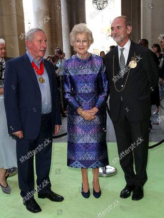 Chris Orr, HRH Princess Alexandra and Christopher le Brun