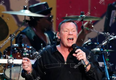 Ali Campbell of British band UB40 performs on stage at the Grand West Arena in Cape Town, South Africa, 15 May 2018. The performance is part of their 25th Anniversary Tour which has taken the band to North and South America, Nigeria, Dubai, Europe and Papua New Guinea.