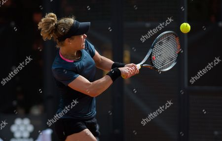 Roberta Vinci of Italy in action at the 2018 Internazionali BNL d'Italia Premier 5 tennis tournament