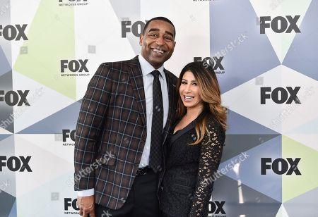 "Stock Picture of First Things First"" co-host Cris Carter and girlfriend attend the Fox Networks Group 2018 programming presentation after party at Wollman Rink in Central Park, in New York"