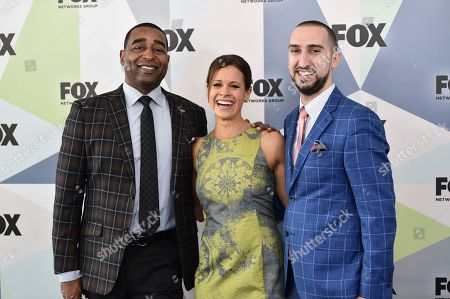 Cris Carter, Jenna Wolfe, Nick Wright. Cris Carter, left, Jenna Wolfe and Nick Wright attend the Fox Networks Group 2018 programming presentation after party at Wollman Rink in Central Park, in New York