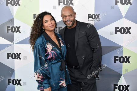 Maya Gilbert, Rockmond Dunbar. Actor Rockmond Dunbar and wife Maya Gilbert attend the Fox Networks Group 2018 programming presentation after party at Wollman Rink in Central Park, in New York