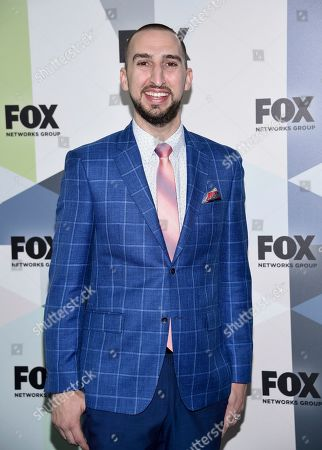 Nick Wright attends the Fox Networks Group 2018 programming presentation after party at Wollman Rink in Central Park, in New York