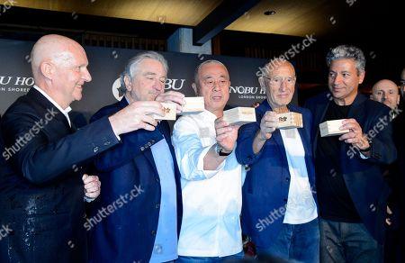 Robert De Niro, Nobuyuki Matsuhisa and Meir Teper and guests