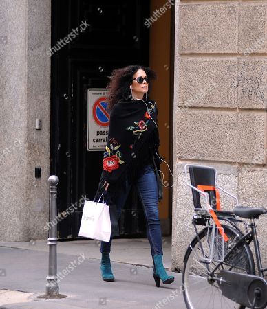 Editorial photo of Randi Ingerman out and about, Milan, Italy - 15 May 2018