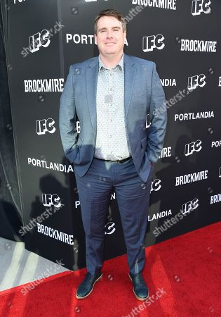 "Joel Church-Cooper, writer and executive producer for ""Brockmire,"" arrives at a For Your Consideration event for ""Brockmire"" and ""Portlandia"" at the Saban Media Center, in Los Angeles"
