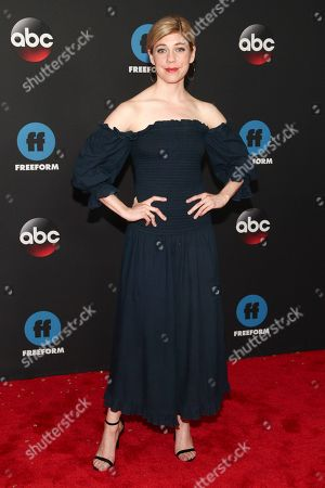 Susannah Flood attends the Disney/ABC/Freeform 2018 Upfront Party at Tavern on the Green, in New York