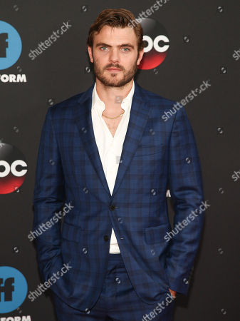 Stock Picture of Alex Roe attends the Disney/ABC/Freeform 2018 Upfront Party at Tavern on the Green, in New York