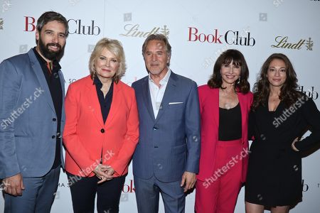 Stock Photo of Bill Holderman, director, Candice Bergen, Don Johnson, Mary Steenburgen and Erin Simms, co-writer