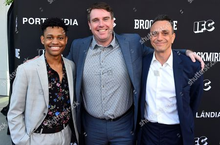 Tyrel Jackson Williams, Joel Church-Cooper, Hank Azaria. Tyrel Jackson Williams, from left, Joel Church-Cooper, and Hank Azaria attend the IFC FYC Brockmire & Portlandia panels at Saban Media Center at the Television Academy Wolf Theatre on in North Hollywood, Calif