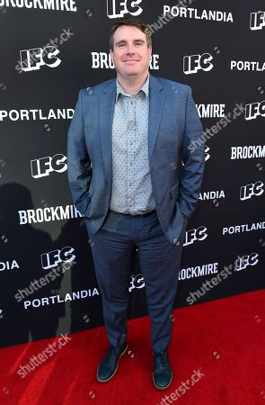 Joel Church-Cooper attends the IFC FYC Brockmire & Portlandia panels at Saban Media Center at the Television Academy Wolf Theatre on in North Hollywood, Calif