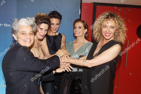 Stock Image of Viola Prestieri, Valentina Cervi, Jasmine Trinca, Isabella Ferrari, Valeria Golino