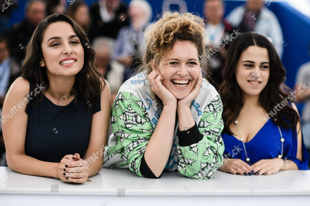 Portuguese actress Sarah Perles(L), Moroccan director Meryem Benm'Barek
