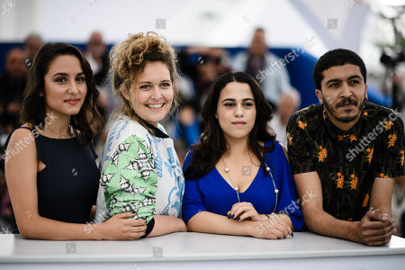 (L-R) Portuguese actress Sarah Perles, Moroccan director Meryem Benm'Barek, Moroccan actress Maha Alemi and Moroccan actor Khafif Hamza 