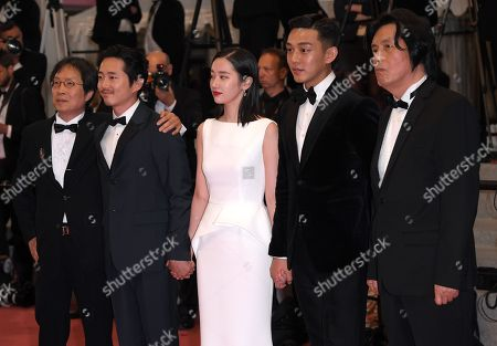 Chang-dong Lee, Ah-in Yoo, Jong-seo Jeon and Steven Yeun